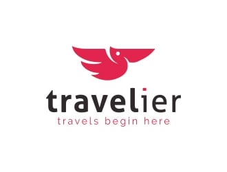 Travelier logo design