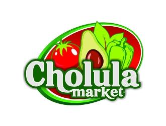 Cholula Market logo design