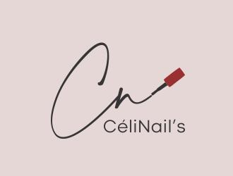 CéliNails logo design