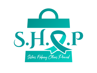 S.H.O.P acronym for Sisters Helping Others Prevail logo design