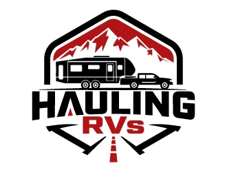 Hauling RVs logo design