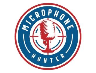 Microphone Hunter logo design