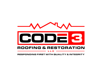 Code 3 Roofing & Restoration, LLC logo design winner