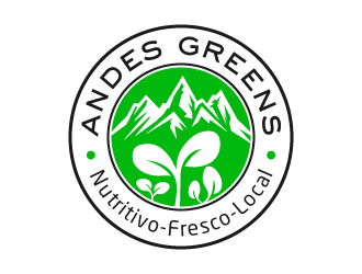 Company name: ANDES GREENS . Slogan: Nutritivo - Fresco - Local logo design