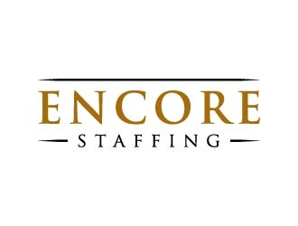 Encore Staffing logo design