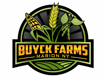 Buyck Farms logo design