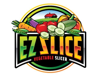 EZ Slice logo design