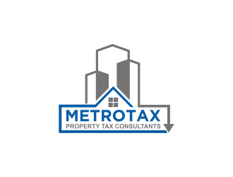 Metrotax Property Tax Consultants logo design