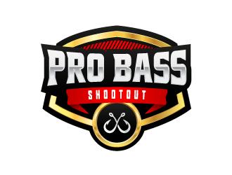 Pro Bass Shootout logo design