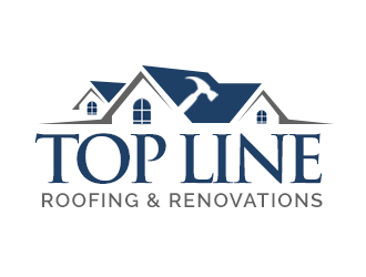 Top Line Roofing & Renovations logo design