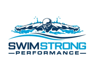 Swim Strong Performance logo design