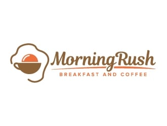 Morning Rush- breakfast and coffee Logo Design
