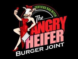 The Angry Heifer Burger & Bar logo design