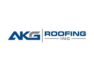 AKG Roofing Inc logo design