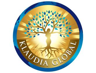 Klaudia Global logo design
