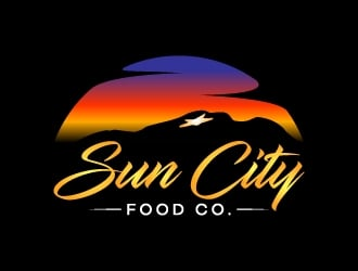 Sun City Food Company logo design