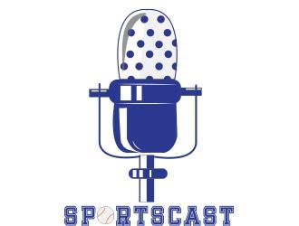 SportsCast logo design by not2shabby
