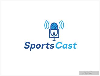 SportsCast logo design by spikesolo