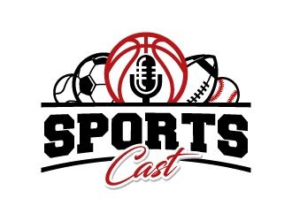 SportsCast logo design by jaize