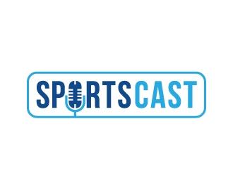 SportsCast logo design by Foxcody