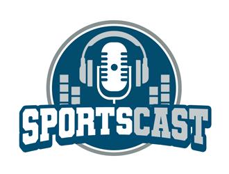 SportsCast logo design by kunejo