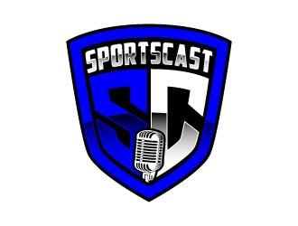 SportsCast logo design by daywalker
