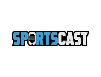 SportsCast logo design by ekitessar