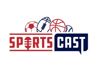 SportsCast logo design by akilis13