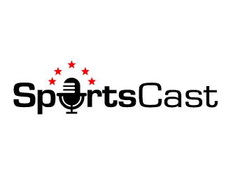 SportsCast logo design by kgcreative