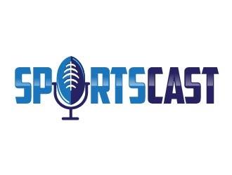 SportsCast logo design by usef44