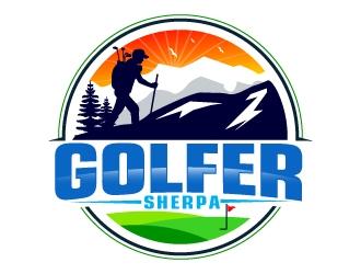 Golfer Sherpa logo design