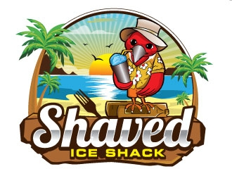 Shaved Ice Shack logo design
