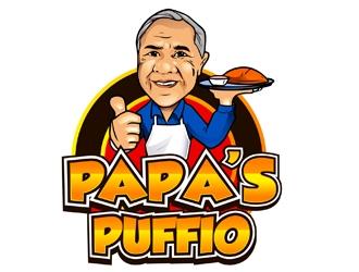 Pappa Puffio logo design