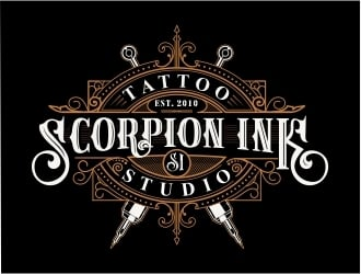 Scorpion Ink Tattoo Studio logo design