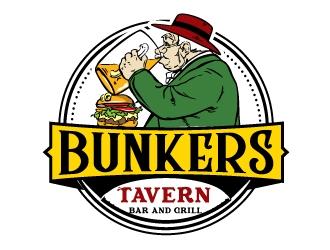Bunkers Tavern  logo design