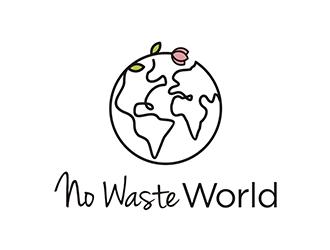 No Waste World logo design