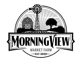MorningView Market Farm logo design