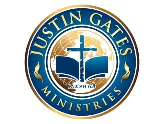 Justin Gates Ministries    Justice | Mercy | Humility   Micah 6:8 logo design