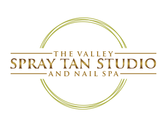 The Valley Spray Tan Studio and Nail Spa logo design