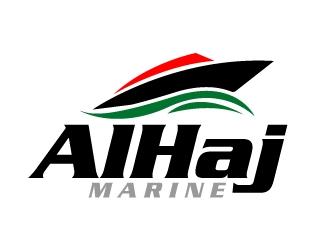 AlHaj Marine logo design
