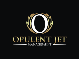 Opulent Jet Management  logo design
