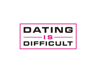 Dating Is Difficult logo design