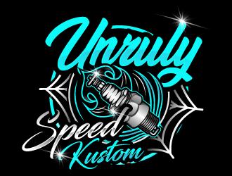 Unruly speed kustom  logo design