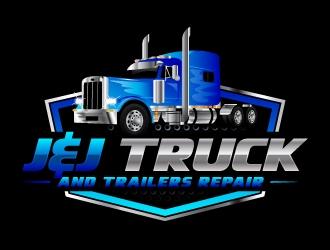 J&J TUCK AND TRAILERS REPAIR logo design