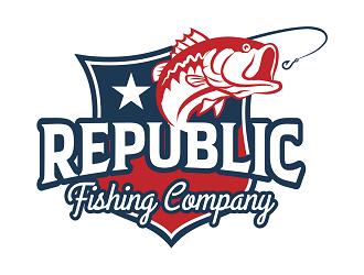 Republic Fishing Company logo design