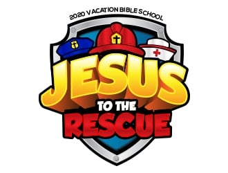 Jesus To The Rescue - 2020 Vacation Bible School logo design