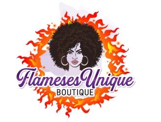 Flameses Unique boutique logo design winner