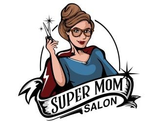 Super Mom Salon logo design