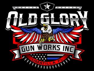 Old glory gun works inc logo design winner