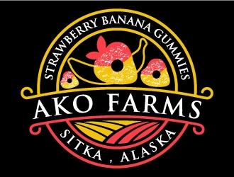 AKO FARMS logo design